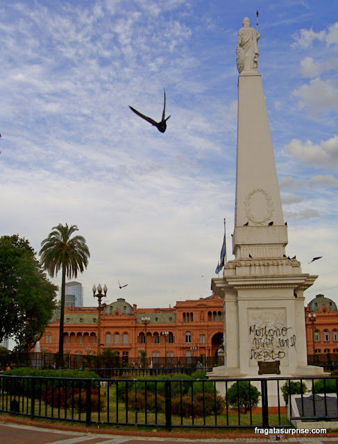 Praça de Maio: obelisco e Casa Rosada, Buenos Aires