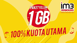 Cara Daftar Paket Yellow Indosat 1GB Rp 1 Rb Terbaru 2019