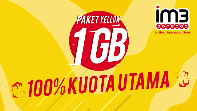 Internet Murah (Yellow Indosat 1GB)