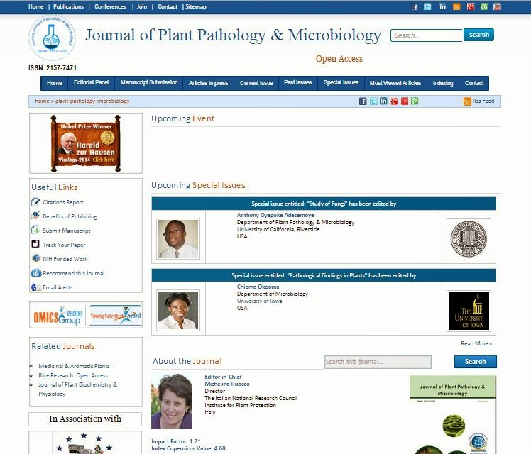 Free Journal Site | Journal of Plant Pathology