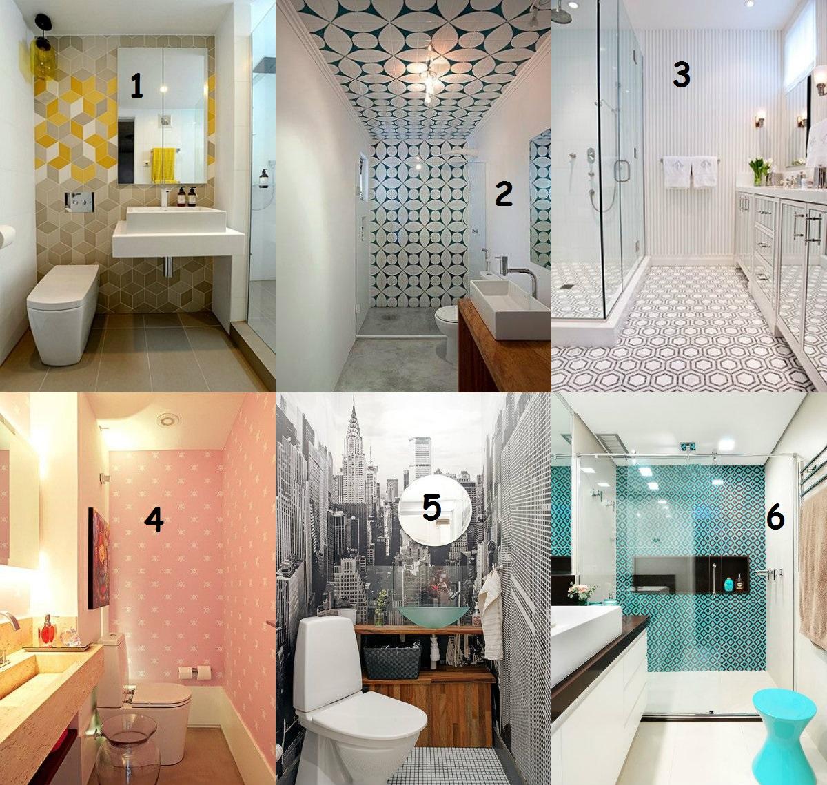 JaqueVirtual: Decoração:Banheiro com papel de parede #996D32 1200x1140 Banheiro Com Papel De Parede