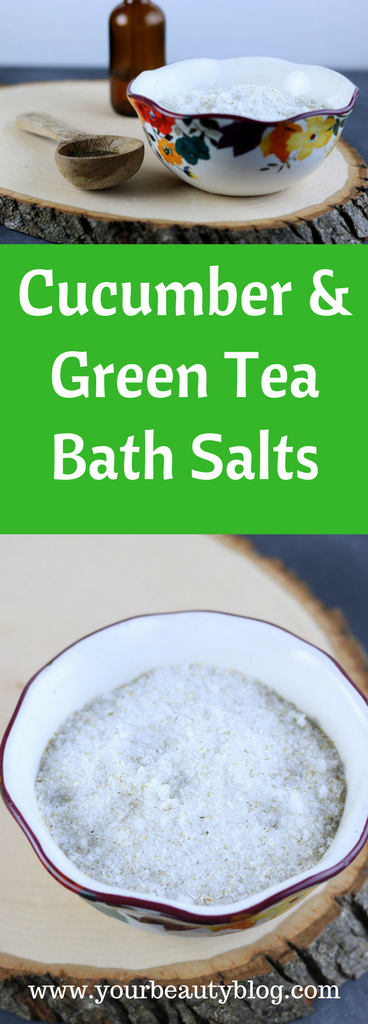 Cucumber and Green Tea Bath Salt Recipe