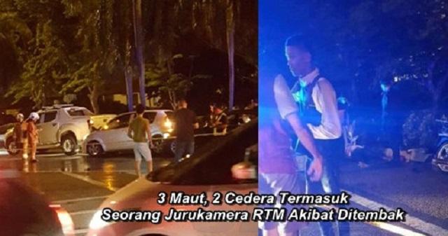3 Maut, 2 Cedera Termasuk Jurukamera RTM Akibat Ditembak (4 Foto)