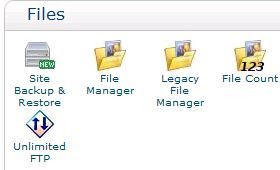 cPanel File manager, FTP