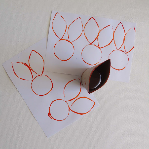 creating bunny prints using a cardboard toilet roll