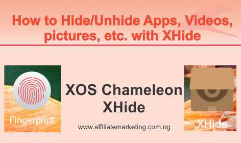 Hide/Unhide Apps with XHide