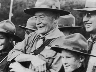 Lord Baden-Powell, founder of Boy Scouts