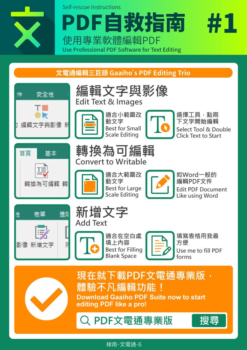 使用專業軟體編輯PDF