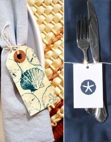 decorating with handmade gift tags