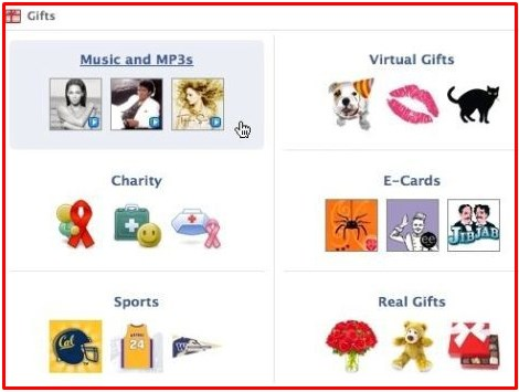 free facebook gifts