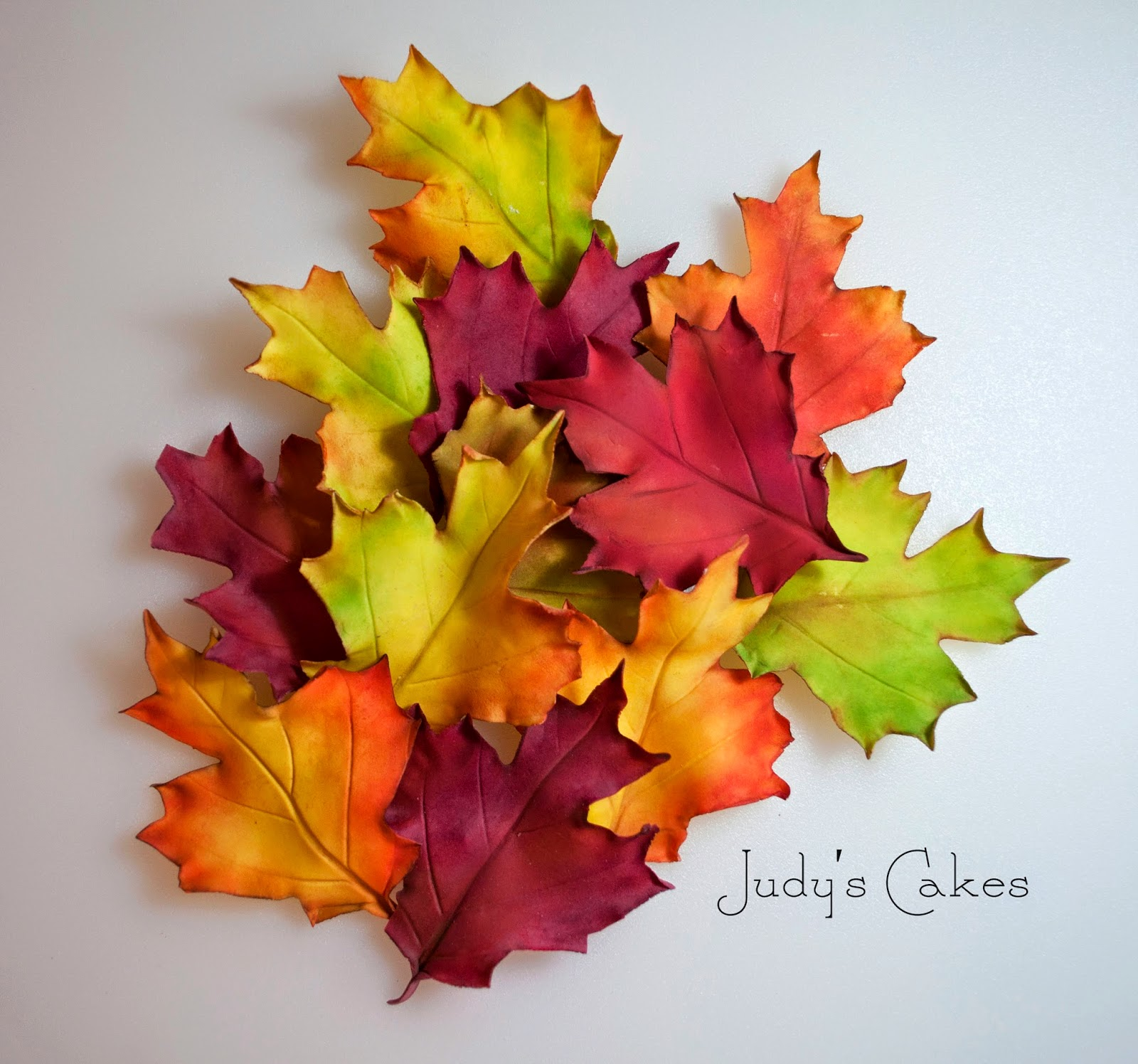 Judy S Cakes How To Make Fall Leaves Part 2