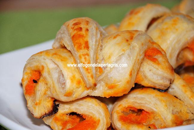 Mini Croissants de salmorejo