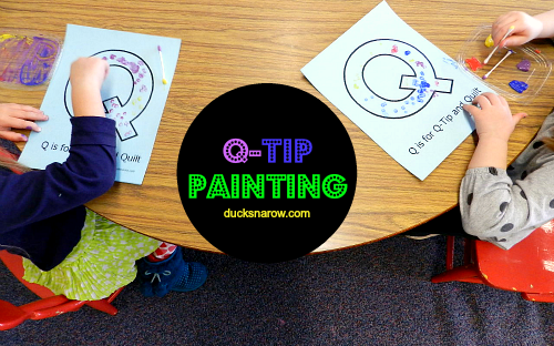 preschool craft, preschool painting, preschool activity, kids painting activity, Letter Q