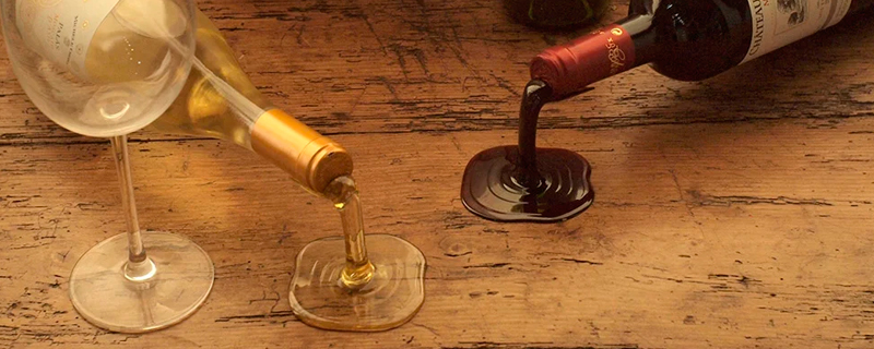 Soporte para botellas de vino con efecto visual