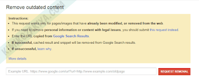 Menghapus URL Artikel Blog yang Terindex di Google