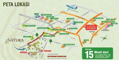 Lokasi Serpong Natura City www.rumah-hook.com