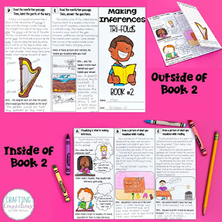 Making Inferences Tri-folds! Use these printables over the course of 4 days to provide targeted instruction on making inferences. These are ideal for small group instruction or intervention groups.
