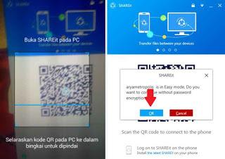 cara transfer file dari android ke pc dengan shareit