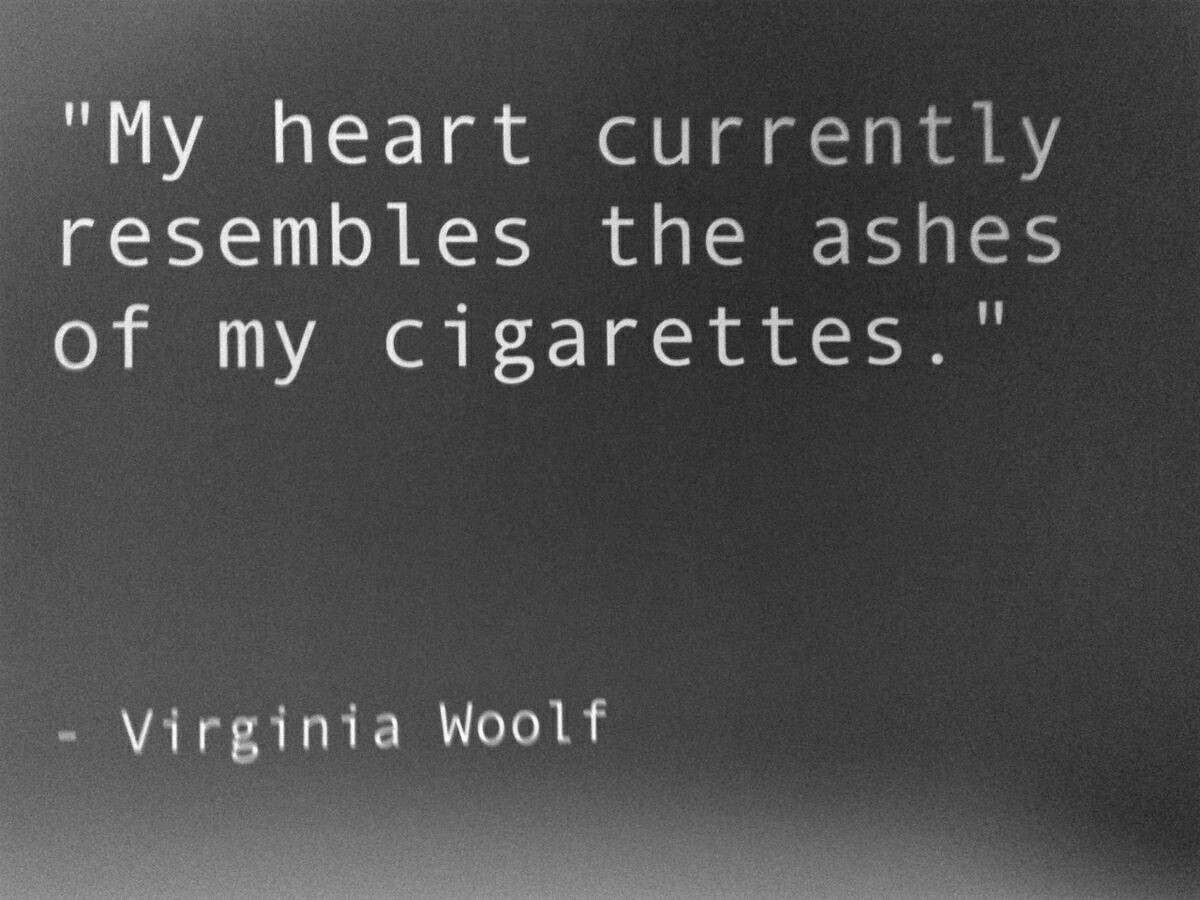 cigarette ashes quotes
