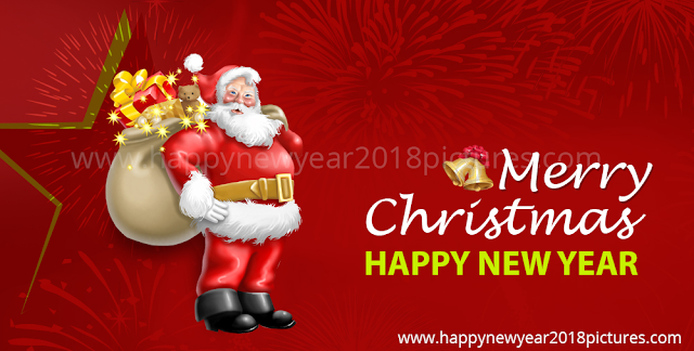 merry christmas and happy new year 2018 images