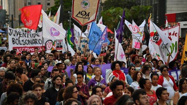 Protestas en Brasil y varios otros países contra Jair Bolsonaro