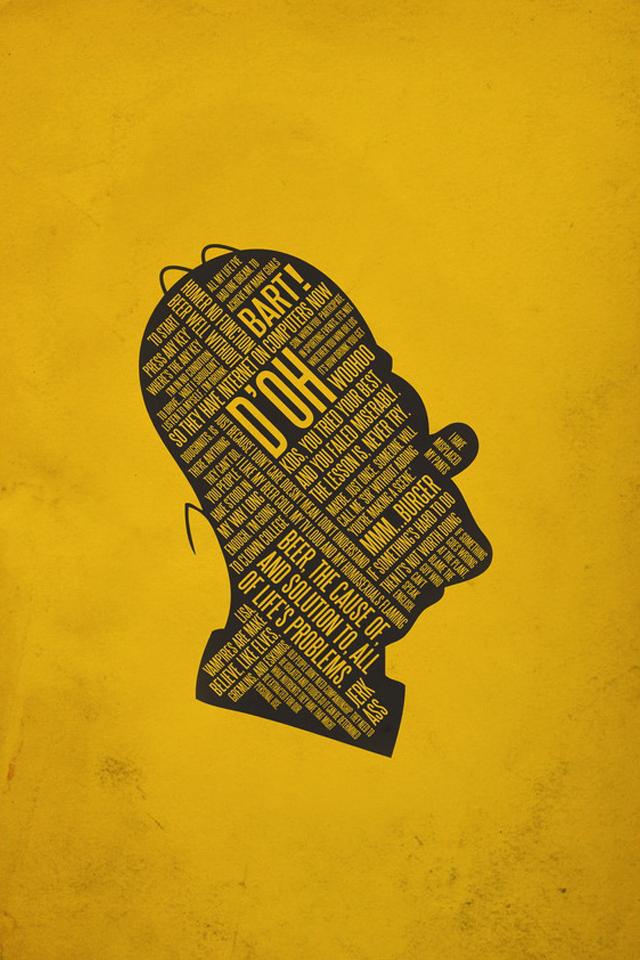 Homer Word Art - iPhone 4 Wallpaper - Pocket Walls :: HD iPhone Wallpapers