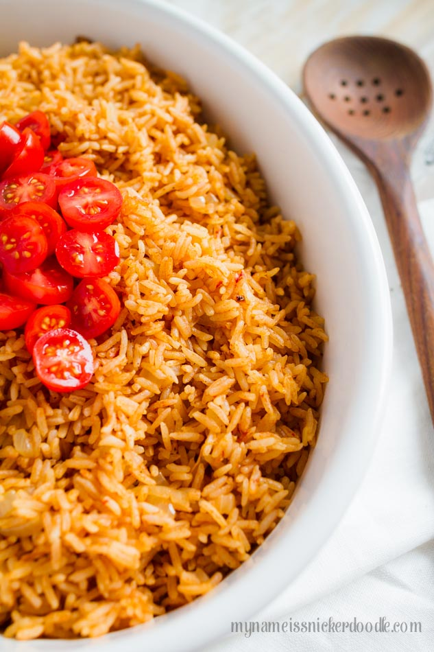 Instant Pot Mexican Rice is cooked in just 15 minutes and super delicious!  |  mynameissnickerdoodle.com