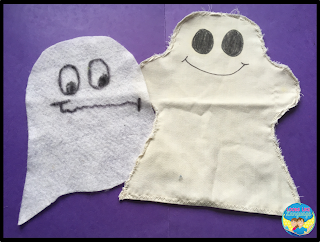 Easy free ideas for Halloween activities in speech/language therapy.