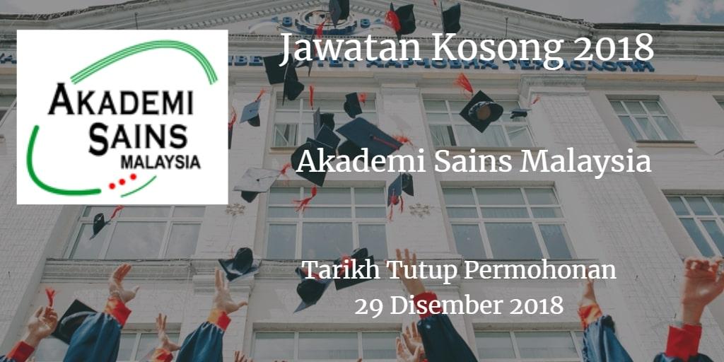Jawatan Kosong ASM 29 Disember 2018