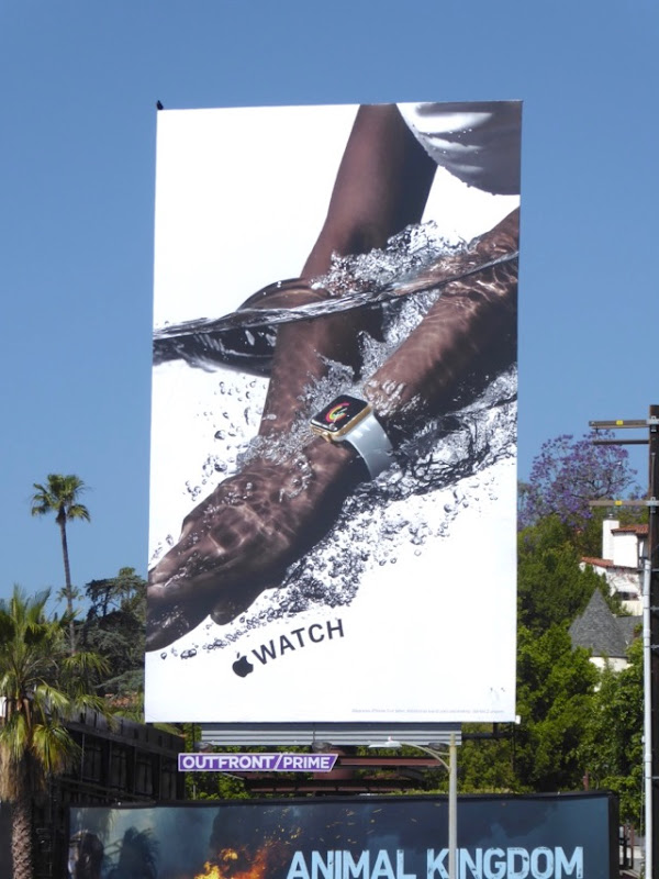 Apple Watch 2017 water billboard