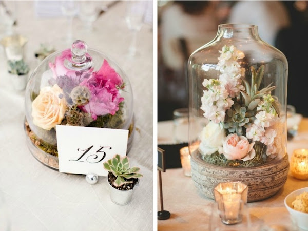 Decoración de bodas con terrarios - DIY