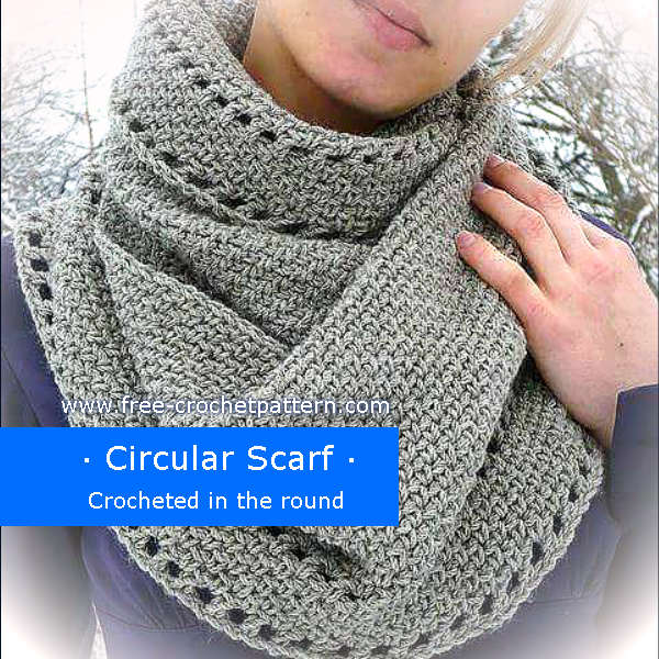 crocheted circular scarf
