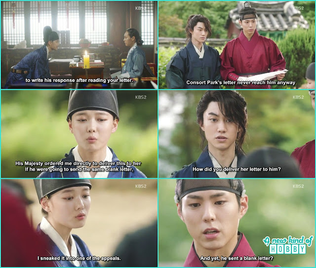 ra on told lee young king again send a blank letter to sookui park - Love in The Moonlight - Episode 3 Review