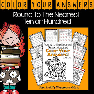 Fern Smith's Classroom Ideas Rounding to the Nearest Ten or Hundred Color Your Answers