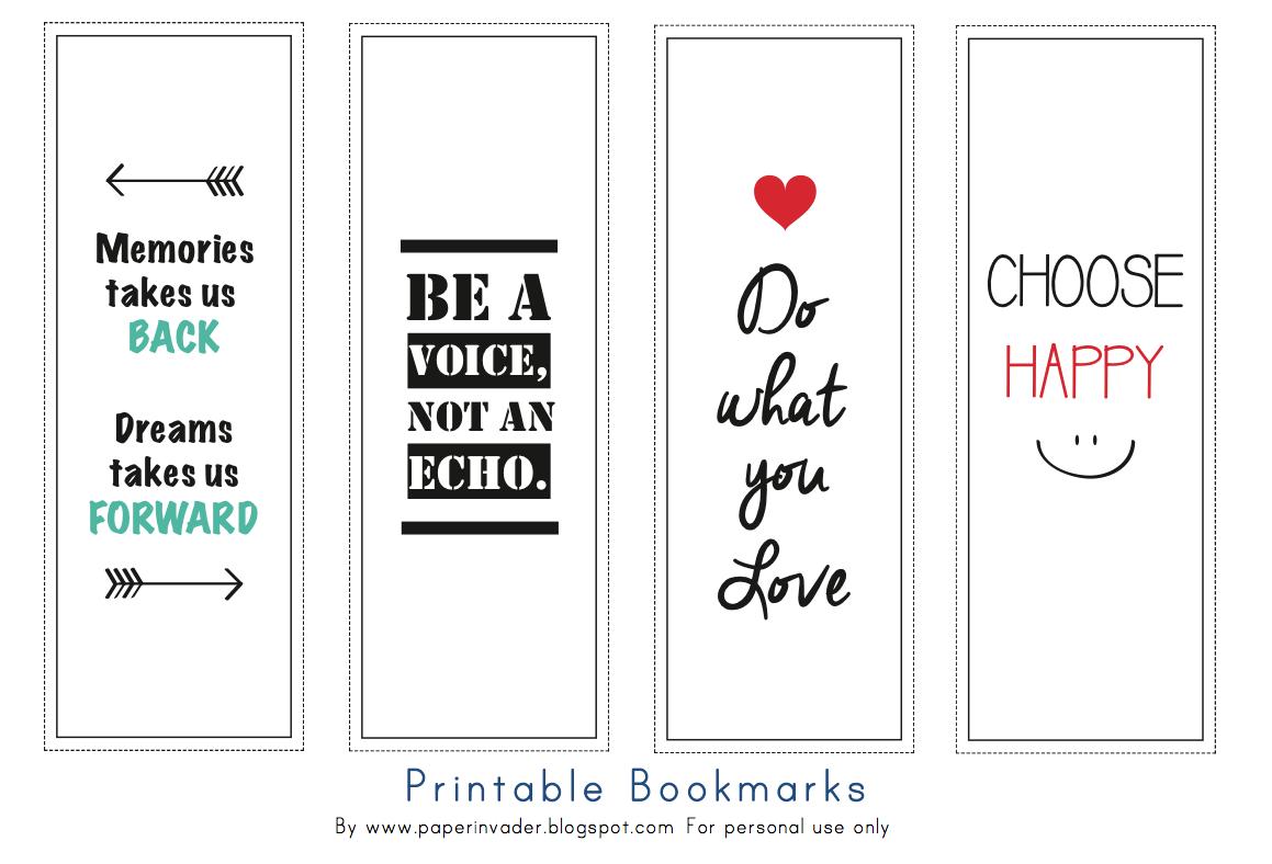 Paper Invader Free Printable Bookmarks
