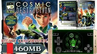 Ben 10 - Ultimate Alien Cosmic Destruction Android    460 MB Highly Compress File    High Graphics   Ben10 एलियन फोर्स कॉस्मिक डिस्ट्रक्शन मोबाइल में कैसे डाउनलोड करें और कैसे खेले