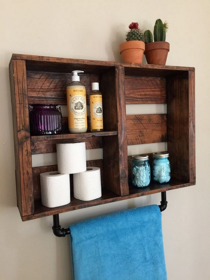 What A Great Ideas! 60+ Bathroom Pallet Projects On a ...