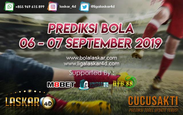 PREDIKSI BOLA TANGGAL 06 – 07 September  2019