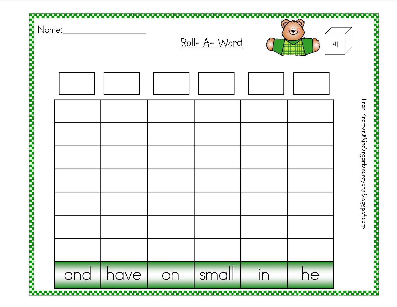 Kindergarten Crayons March
