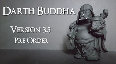 Darth Buddha Version 3.5 Classic Flat Black Edition Star Wars Resin Figure by Random Skull Productions