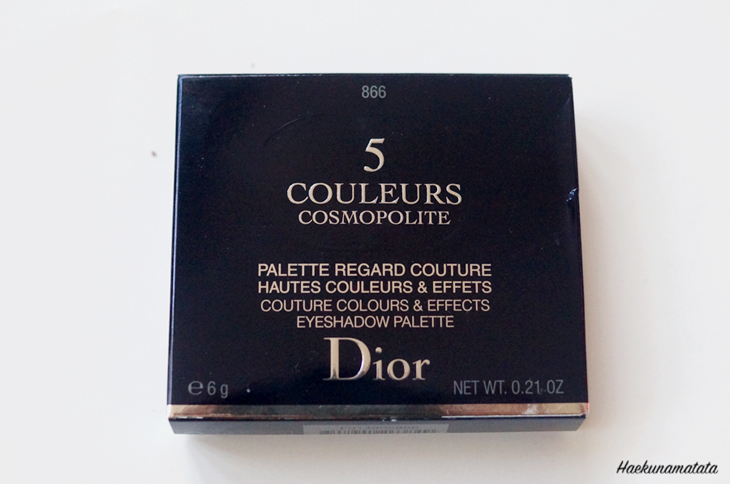 Dior 866 Electric palette cosmopolite review and swatches