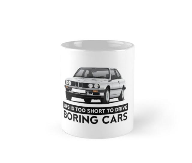 BMW E30 (3 Series) illustration coffee mugs @Redbubble
