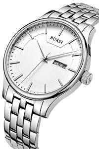 BIG SALE BUREI Watch, £22.40 today 7 February 2017, BUREI Men's Quartz Wrist Watches