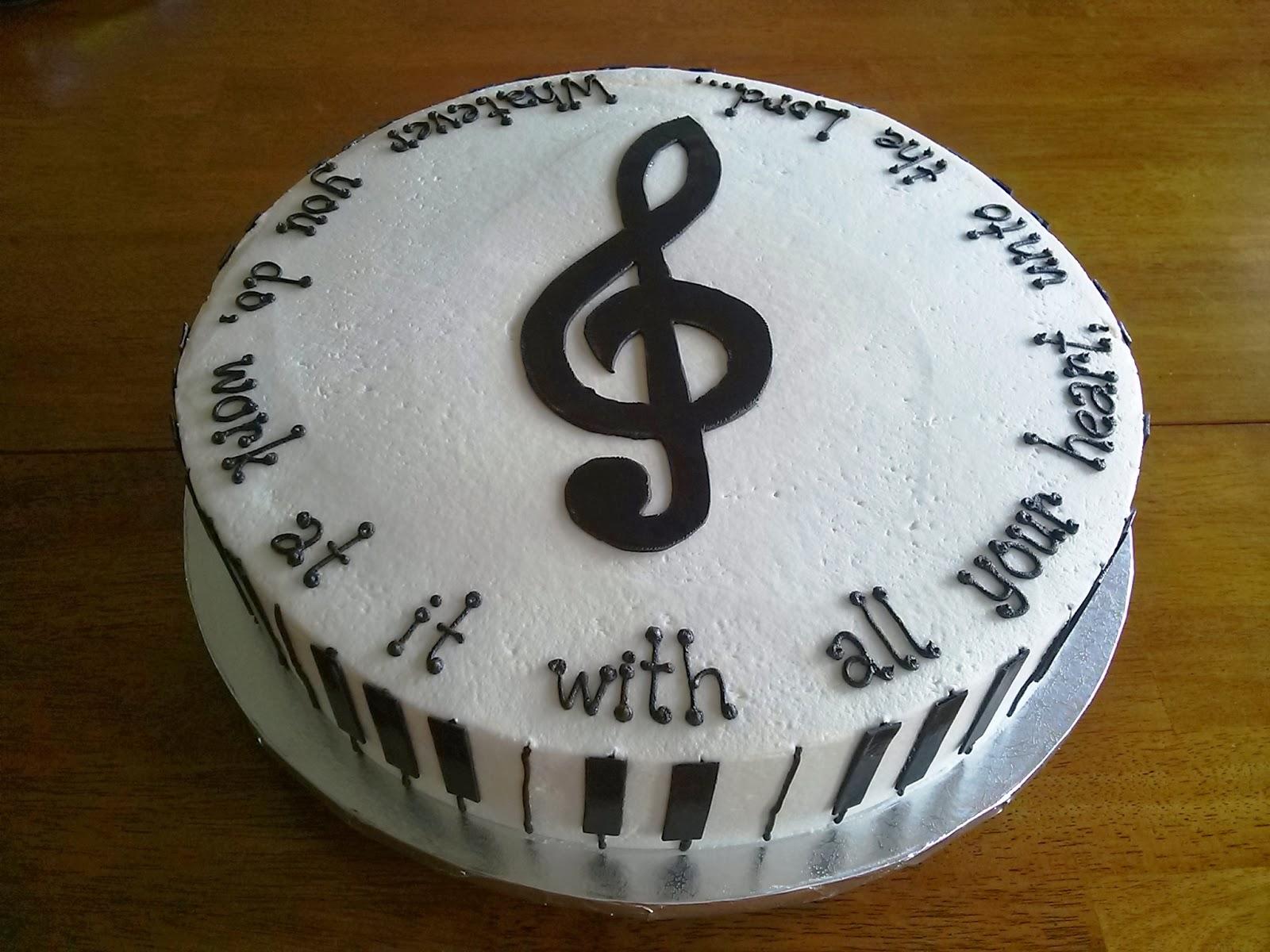 Simply Sweet Piano Recital Cake