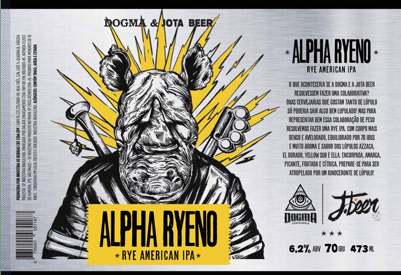 Cerveja Alpha Ryeno - Cervejaria Dogma e JBeer