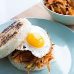 Vegetarian Kimchi Rice Burger