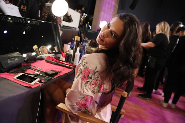 Adriana Lima on the Backstage at 2017 Victoria's Secret Fashion Show in Shanghai