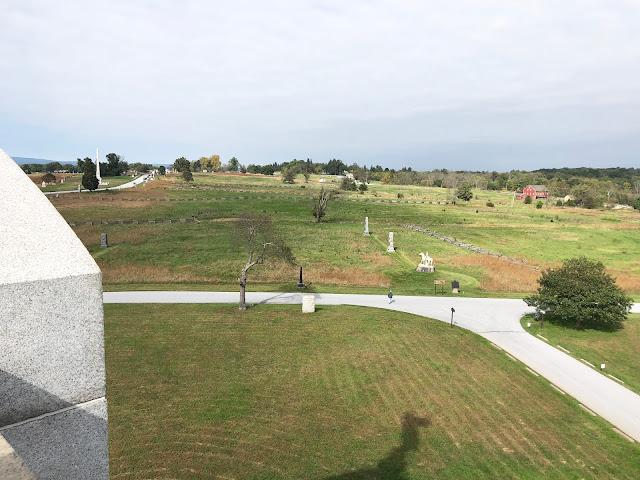 View of Gettysburg Battlefields