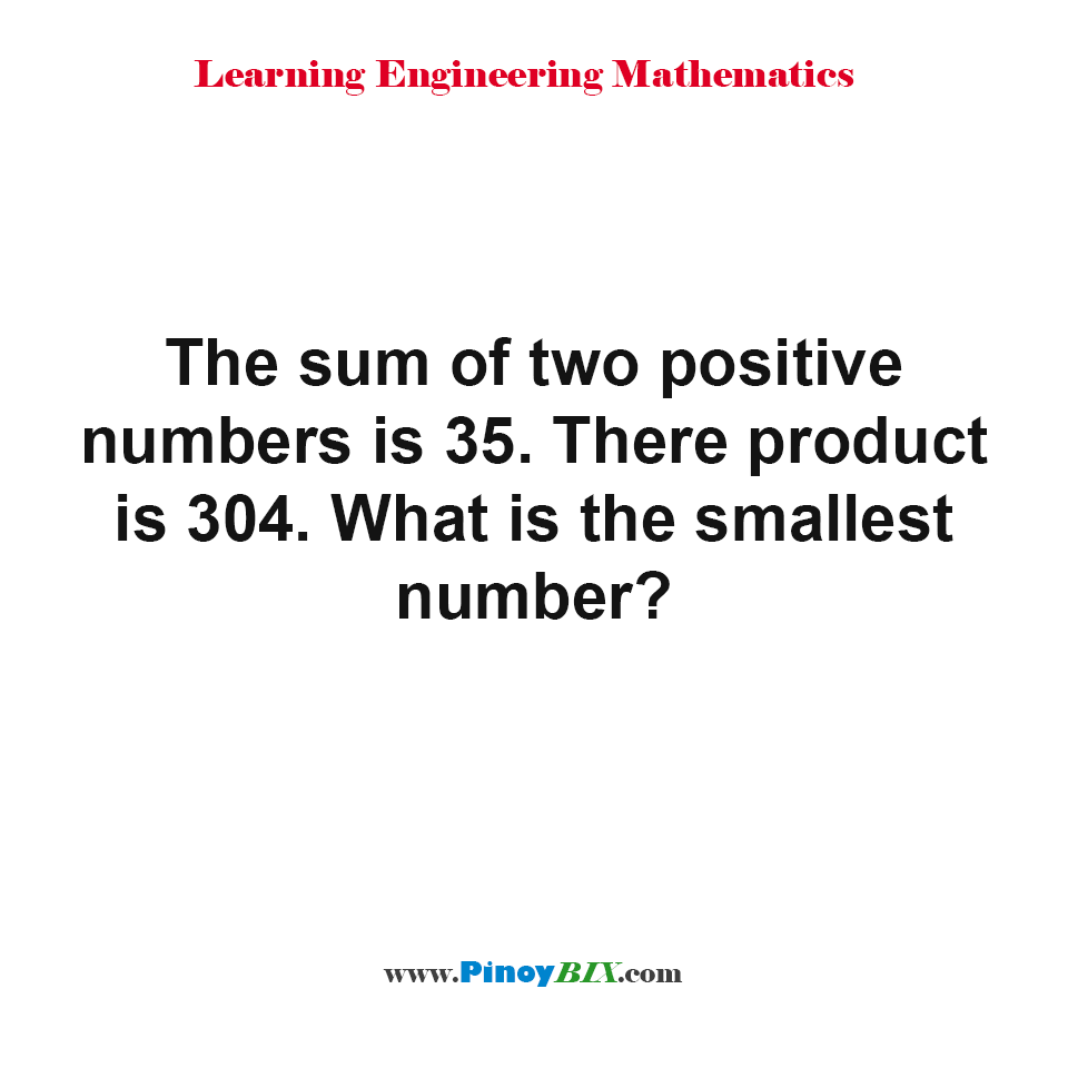 What is the smallest number?
