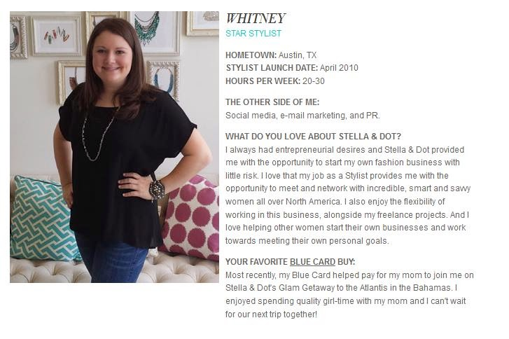 Entrepreneur Feature for Whitney Fields, Stella & Dot Stylist and Associate Director